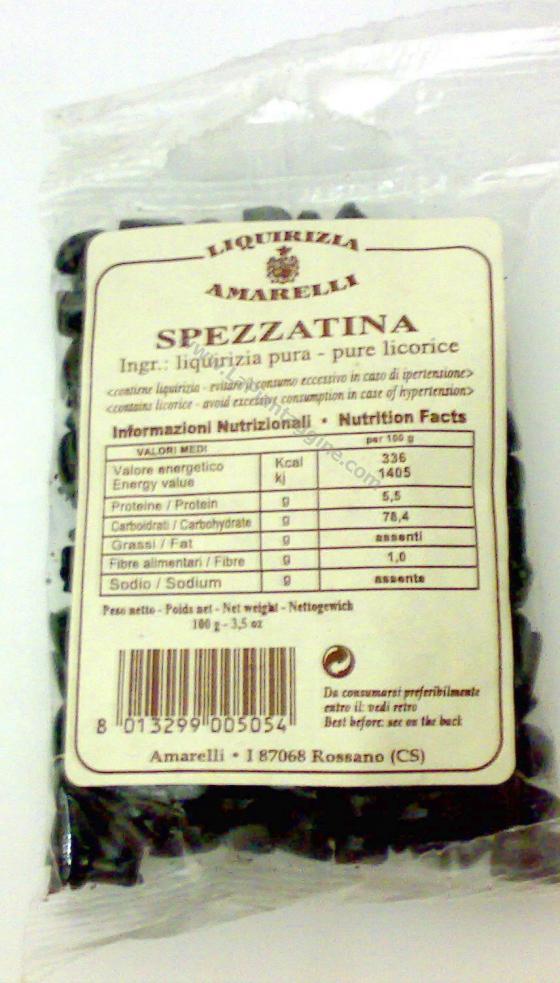 Caramelle e liquirizie - Liquirizia Spezzatina AMARELLI 100gr