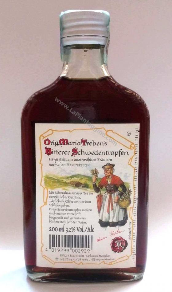 Vini Spumanti e Amari - Amaro Svedese della vecchietta 200 ml.