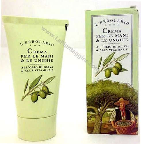 Crema Mani e Unghie al l'olio di oliva  L Erbolario