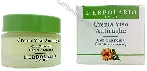 Crema antirughe - Crema Viso Antirughe con calendula, carota e ginseng L'Erbolario