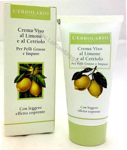 Crema Viso per pelli Grasse e Impure al limone ecetriolo  L'Erbolario