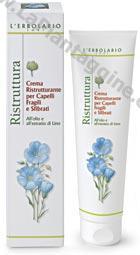 Ristrutturante capelli - Crema ristrutturante per Capelli Fragili e Sfibrati all'olio e all'estratto di Lino