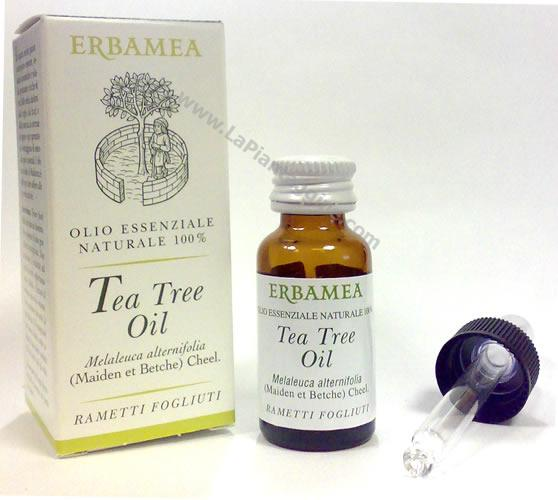 Olii Essenziali per Aromaterapia Erbamea - olio essenziale di Tea Tree Oil melaleuca