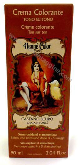 Coloranti capelli - Hennè Crema colorante castano scuro henne - Sitarama