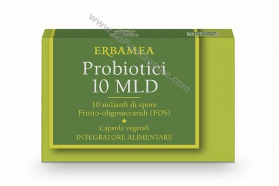 Fermenti lattici e Enzimi - Probiotici 10 miliardi in capsule Erbamea