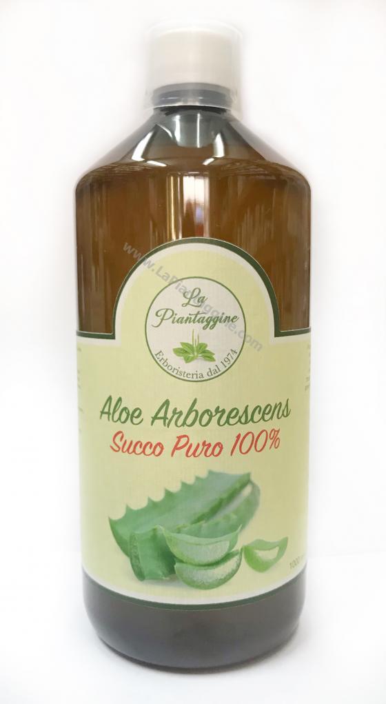 Succo Aloe Arborescens puro al 100% 1 litro