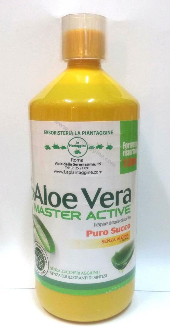 Aloe - ALOE VERA SUCCO PURO 100% 1 lt SELEZIONATA E CERTIFICATA da piante di 3/5 anni