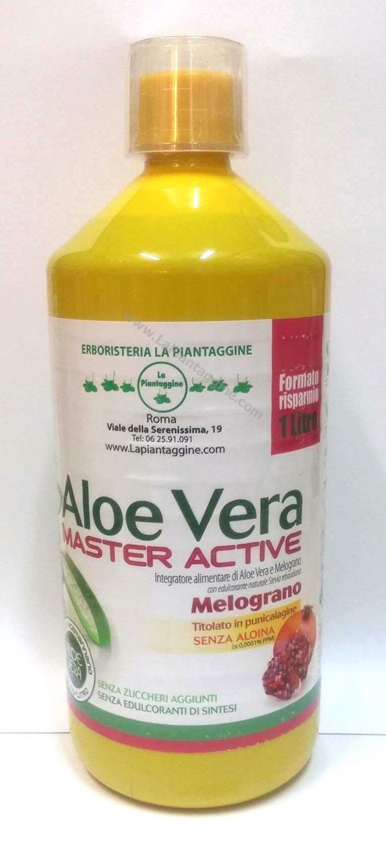 Intestino pigro - ALOE VERA SUCCO PURO 100% con MELOGRANO 1 lt CERTIFICATA E SELEZIONATA