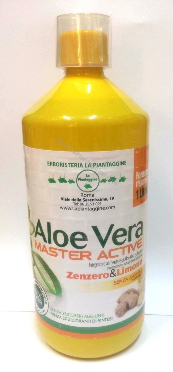Aloe - ALOE VERA SUCCO PURO AL 100% con ZENZERO e LIMONE CERTIFICATA e SELEZIONATA
