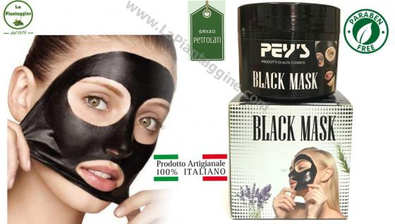 BLACK MASK maschera nera al carbone SENZA PARABENI E PETROLATI 100% naturale e ITALIANA