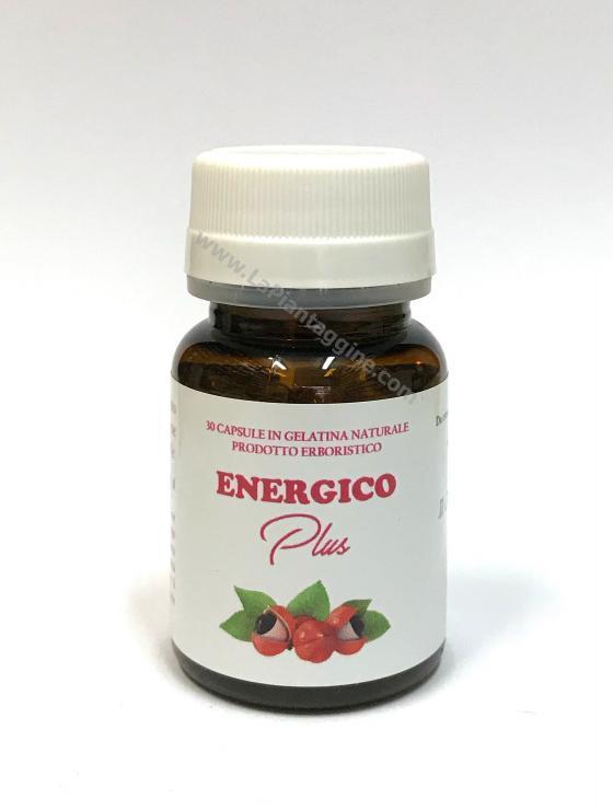 Energico Plus con maca,ginseng,guaranà,caffè verde. TONICO