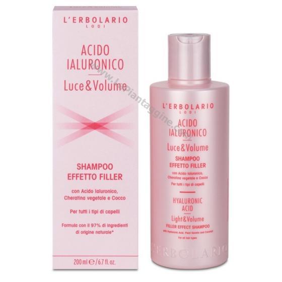 Capelli secchi e crespi Shampoo Acido Ialuronico Effetto Filler L ERBOLARIO