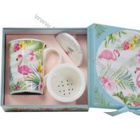 Accessori per infusi e tè Tisaniera Infusiera in porcellana Fenicottero