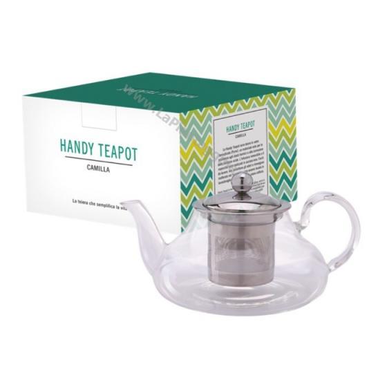 Teiera con infusiera 800 ml. Per Tè e Tisane adatta ad ogni piano cottura