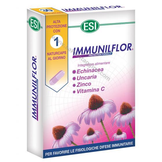 Difese immunitarie - IMMUNILflor Capsule Echinacea,uncaria,zinco,vitamina c,probiotici